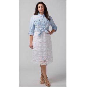Lane Bryant Crochet Skirt